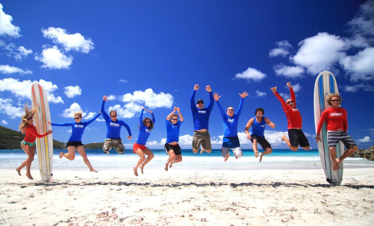 Torola Surf Camp Group Jump