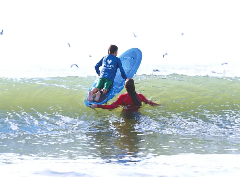 private surfing lesson in Wrightsville Beach, NC