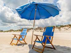 chair umbrella combo